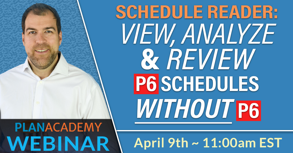ScheduleReader View, Analyze & Review P6 schedules without P6